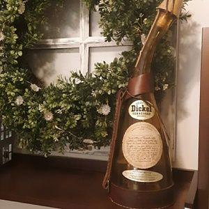 Vintage dickel Tennessee whiskey souvenir bottle.